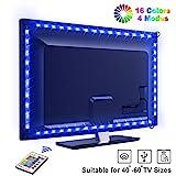 LED TV Lightstrip, OMERIL 2.2M 66 LED Ruban LED RGB 5050 16 Couleurs et 4...