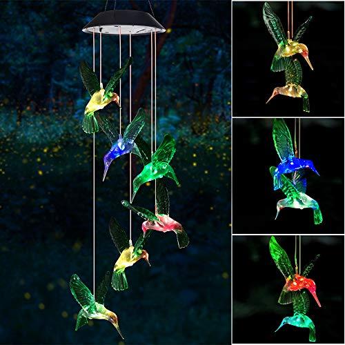 Wind Chime, Solar Hummingbird Wind Chimes...
