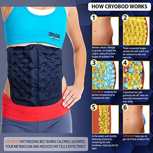 CRYOBOD Fat Freezer Belt - Cold Body Sculpting Kit for Easy Slimming-Body Shaper - Tummy Tuck, Shrink Belt Wrap - Skin-Safe Fat Trimmer to Get Slimmer - For Women and Men-For Women and Men - Fits 29 to 39 Inch Waist 4