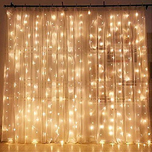 Twinkle Star 300 LED Window Curtain String Light Wedding...