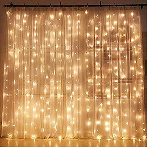 Twinkle Star 300 LED Window Curtain String Light Wedding Party Home...
