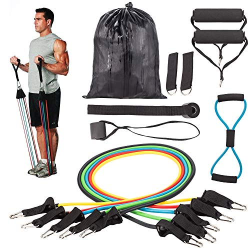 Resistance Bands Correas Set Workout Bands 12 pcs - 5 Fitness Bandas...