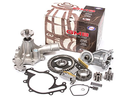 Evergreen TK20500WOP3 Compatible With 97-03 Ford E150 E250 Econoline F150 4.2L OHV 12 Valves Timing Chain Kit Water Pump Oil Pump