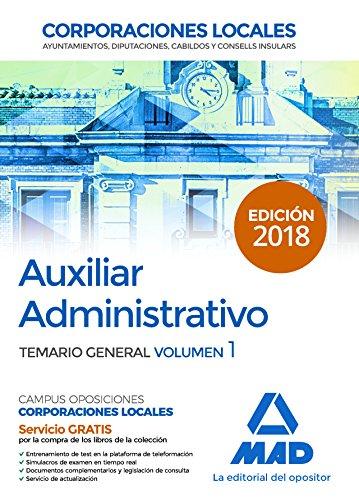 Auxiliares Administrativos de Corporaciones Locales. Temario General: Auxiliar Administrativo de Cor