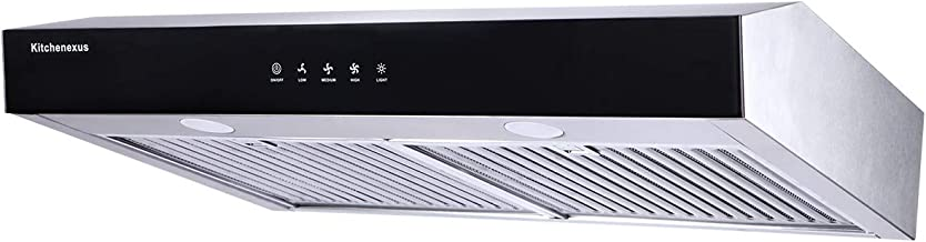 Range Hood 30 inch,Kitchenexus Stainless Steel Touch Screen Display Ducted/ductless Under..