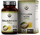 EN Cascara de Psyllium 1000mg | 180 Capsulas Veganas | Fibra Natural de Plantago Ovata del Psilium...