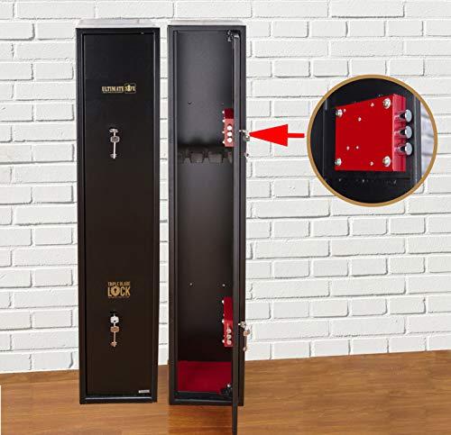 Ultimate Safe Armoire à Fusils Coffre Fort pour 3 Carabines avec Serrure Triple Blade Lock®