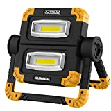 RUNACC Projecteur LED Rechargeable Projecteur Chantier 20W 1500LM Lampe de...
