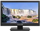 Sceptre 18' LED HDTV HDMI VGA USB Clear QAM, Brushed Black 2019 (E185BV-SSC)