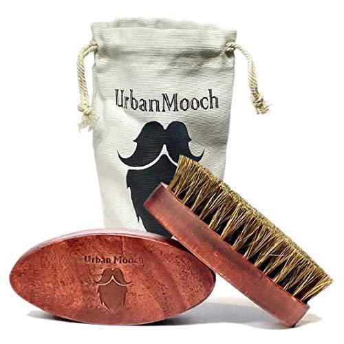 UrbanMooch Boar Bristle Beard Brush with Natural Wood Handle