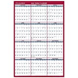 2020 Large Erasable Wall Calendar, AT-A-GLANCE Dry Erase Planner, 36' x 24', Double Sided, Vertical/Horizontal, Blue/Red (PM2628)