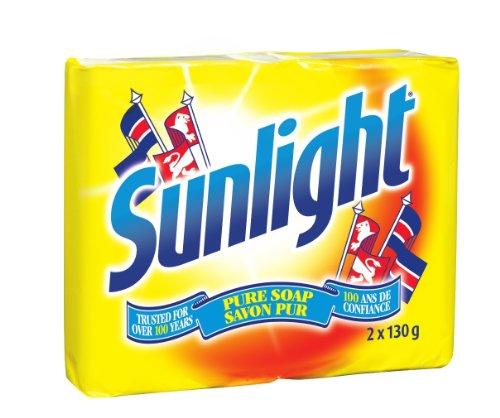 Sunlight Lemon Laundry Detergent Bar, 2 x 130 Gram