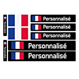 Bearn 9 Autocollants Stickers pour Vélo, Moto, Casque, Bouteille, des Objets. Drapeau Nom Personnalisé