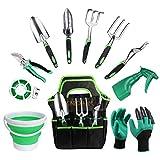 GARDFARM Outils de Jardinage 11 Pièces kit d'outils à Main en Acier...
