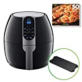 GoWISE USA 5-Quart Air Fryer with 8 Cook Presets + Recipe Book, Black, 5.0-Qt