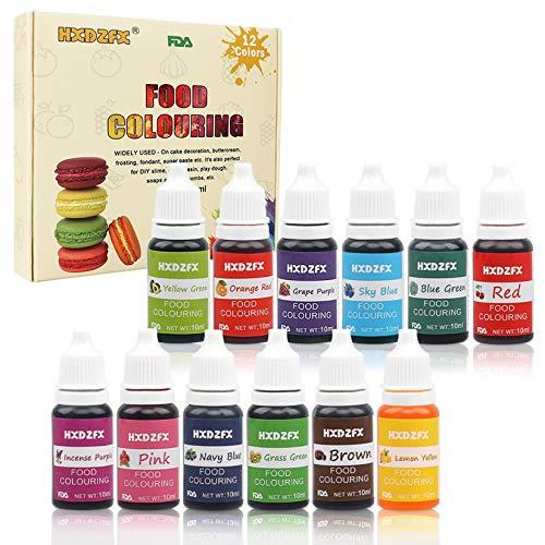 Colorante alimentario 12*10ml, Colorante Alimentario Alta Co