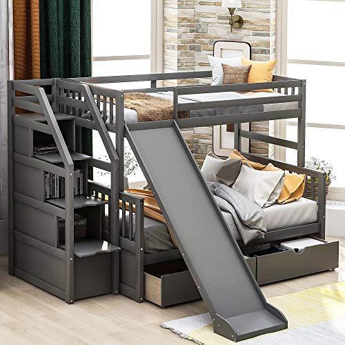 Twin Over Full Bunk Beds Storage Low Bu Buy Online In Canada At Desertcart