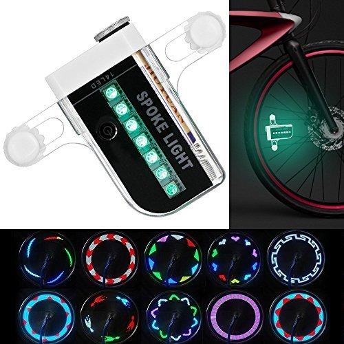 KEKU Luminoso Bike Wheel Lights - Impermeabile 14 LED ha parlato la Luce per la Guida Notturna con...