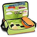 Maletín de educación sexual | Modelo EDUSEX´S | Elite Bags | Medidas: 40 x 24 x 16 cm | Colores juveniles y alegres: naranja y verde | Material resistente y lavable | Para fomentar una vida sexual san
