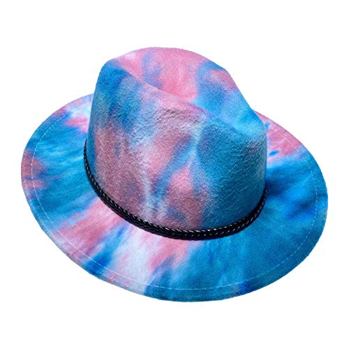 Jixin4you 20s Costume Feltro Trilby Fedora Cappello per Uomini Donne Classico Panama Cap Racing Cappelli Cowboy Jazz con Fascia Cuore - blu - Taglia unica