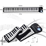 Safeplus Piano Keyboard 88 Keys Touch Sensitive Portable Keyboard with Power Supply