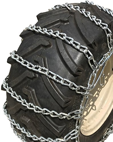 TireChain.com 20x8.00x10, 20x8x8 Heavy Duty Tractor Tire Chains Set of 2
