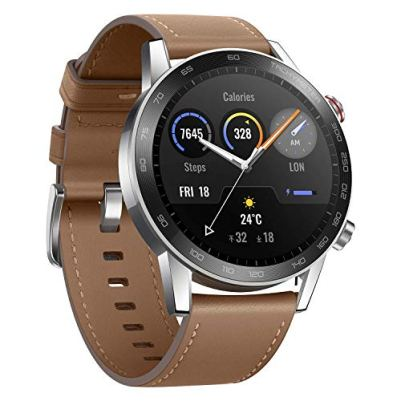 """Honor MagicWatch 2 Smart Watch, 1.39"""" AMOLED 5ATM Waterproof 14 Days Standby Smart Bracelet with GPS Bluetooth 46mm Fitness Tracker Activity Tracker (Brown, 46mm)"""