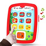 GILOBABY My Baby Tablet with Music & Light, Learning Education Interactive Tablet Toy iPad for Numbers, Alphabet, Animals and Colors, Gift for Infants Toddlers Kids 6 9 12 18 Months