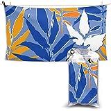 XCNGG Toallas de baño de Secado rápido Toallas de baño para el hogar Toallas Swimming Quick-Drying Towel Beach Towel Abstract Seamless Pattern Exotic Leaves in Quick Dry Towel 28.7 x 51 Inch
