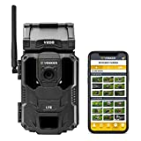 Vosker V200 | Cellular Security Camera | Built-in Solar Panel | LTE, Wireless, Weatherproof, No Wi-Fi Required | Motion Activated HD Outdoor Surveillance Cameras | Mobile Phone Push Notifications