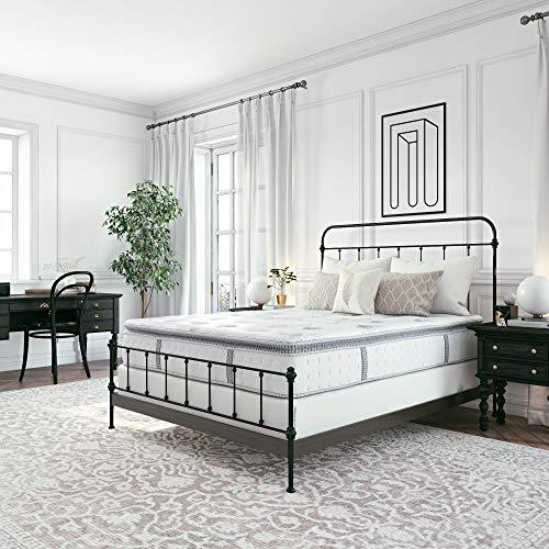 Classic Brands Mercer Pillow Top Cool Gel Memory Foam and Innerspring Hybrid 12' Mattress, Twin XL, White