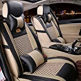 Car Seat Cover Cushions PU Leather, FuriAuto Front Rear Full Set Car Seat Covers for 5 Seats Vehicle...