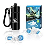High Fidelity Concert Ear Plugs, Hearprotek Noise Reduction Music Earplugs-Hearing Protection for Musicians, DJs, Drummers, Percussion, Festival, Nightclub and Other Loud Events (Blue)
