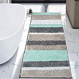 HEBE Extra Long Bath Rug Runner for Bathroom Extra Large Non Slip Microfiber Bathroom Mat Rug Runner Machine Washable Area Rugs,27.5' x55'