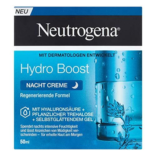 Neutrogena Hydro Boost Nacht Creme, feuchtigkeitsspendende Nachtpflege...