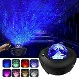 Projecteur à LED avec télécommande Starry Etoile Mond/Effet vague d'eau...