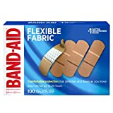 Johnson & Johnson Band-Aid Brand Flexible Fabric Adhesive Bandages for Wound Care and First Aid, All One Size,...
