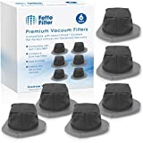 Fette Filter - Dust Cup Filter Compatible with Shark Cordless Pet Perfect Lithium-Ion Handheld Vacuums Models LV800 LV801 LV801C Compare to Part # XDCF800. (Pack of 6)