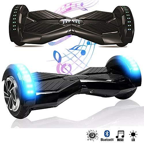 Magic Vida 8'' Self Balance Scooter Elettrico in Offerta Bluetooth con LED Auto bilanciamento (Nero)