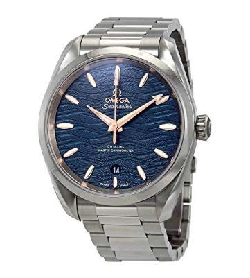 Omega Seamaster Aqua Terra Co-Axial Master Chronometer Automatic Blue Dial Men's Watch 220.10.38.20.03.002