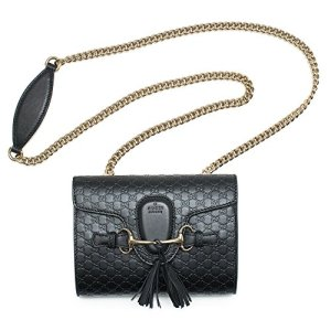Gucci Micro Guccissima Soft Margaux Black Leather Shoulder Handbag Bag New Small 18