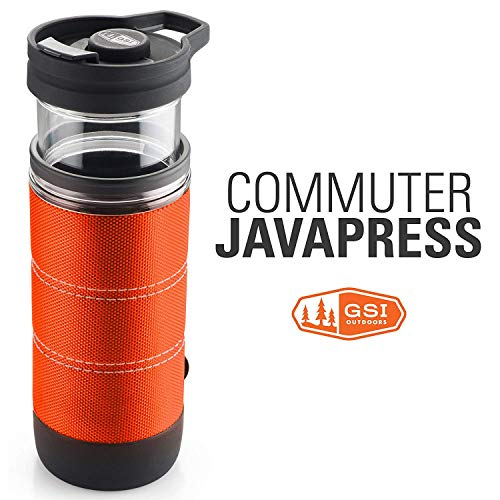 GSI Outdoor Commuter JavaPress Kaffeebecher, Herren, 79407, Orange, 15 FL. oz.
