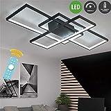 LED Plafonnier Moderne Salon Lumière Lustre Dimmable Créatif Aluminium...