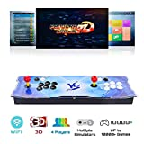 TAPDRA 2448 in 1 Pandora Games Console 3D Arcade Full DIY Kit WiFi Game Market Built-in 10000+ Games Downloadable FBA MAME , Support 4 Player
