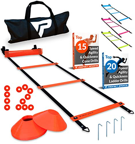Pro Agility Ladder and Cones - 15 ft...