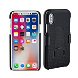 Minisuit Clipster Kickstand Holster Case + Belt Clip for iPhone X