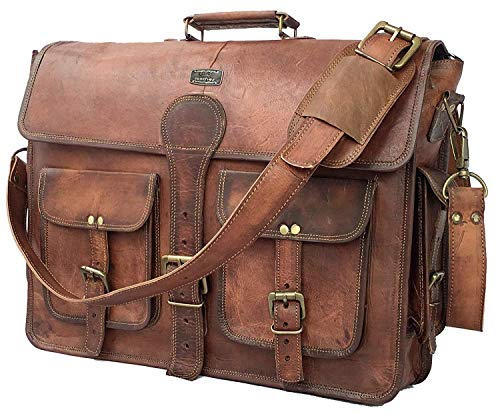 DHK 18 Inch Vintage Handmade Leather Bag