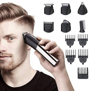 Tiklean 6 In 1 Beard Mustache Trimmers Electric Hair Clippers For Men Beard, Head, Body, Face Multi...