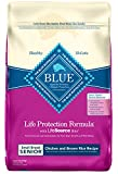 Blue Buffalo Life Protection Formula Small Breed Senior Dog Food – Natural Dry Dog Food for Senior Dogs – Chicken and Brown Rice – 15 lb. Bag