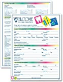 Two-Sided Dental Icon Design Registration & History Form, 3 Pads, 100 Forms Per Pad, English